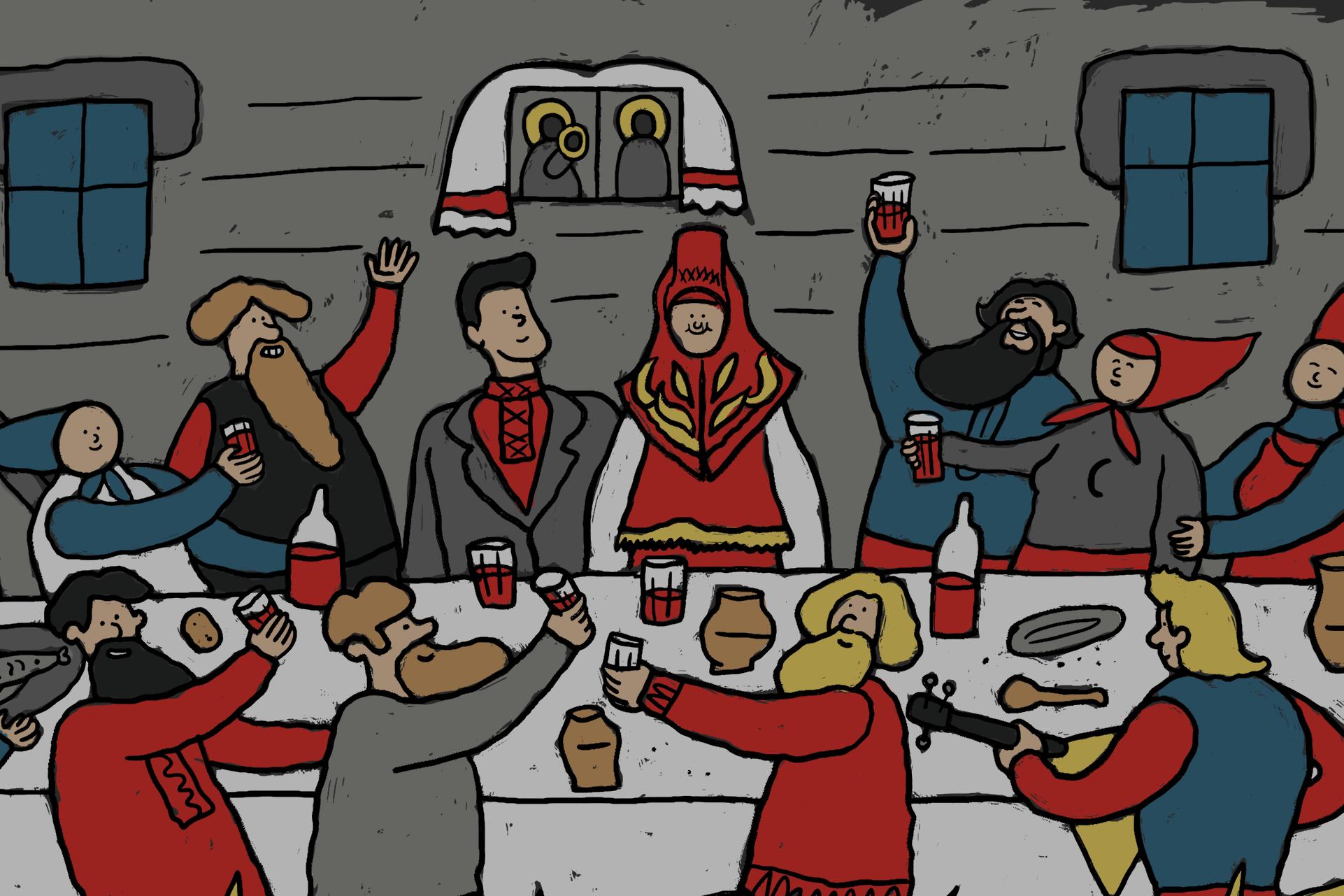 Как праздновали свадьбу в русских деревнях сто лет назад